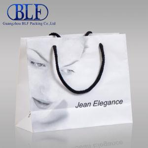 Пользовательские рекламные белый бумажный мешок печать магазинов