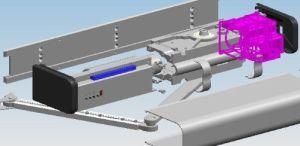 Apri automatico della porta a battenti di spinta d'inversione automatica