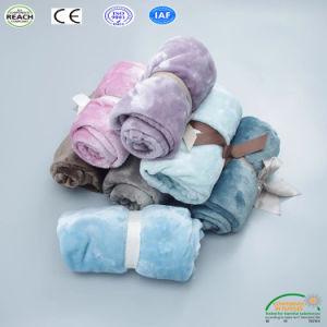 子供純粋なカラー高品質の赤ん坊の印刷の子供または大人のための極度の柔らかいベッド毛布