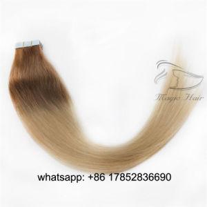 Kleur Balayage 6/613 van het Haar van Remy van de Band van de Uitbreidingen Pu van het menselijke Haar de Volledige HoofdUitbreidingen van het Haar van het Haar Vrigin 50g 20PCS van de Huid Weft