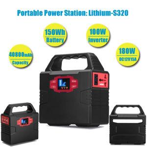 Uso de la familia off-grid sistema generador de energía solar Powerstation Solar de 100W