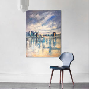 Home Decorationのための抽象的な都市Cape Oil Painting