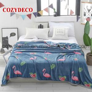 Design Famingo flanela grosso cobertor de cama velo