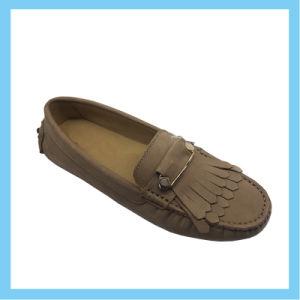 2015 Nouvelle conception des chaussures de cuir de daim dame