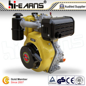 Motor diesel de color amarillo (HR186FS)