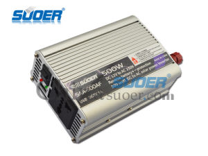 Suoer 500W 12V DC AC Onda senoidal modificada Inversor de potencia (SAA-500AF).