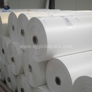 Haltbares weißes überzogenes pp. gesponnenes Gewebe für die Ballen-Verpackung