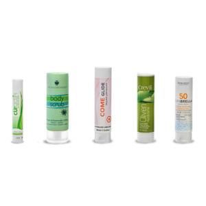PE Plástico laminado envases cosméticos tubo cosméticos