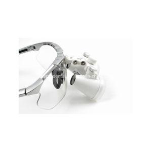 歯科装置の外科歯科医の拡大鏡歯科ルーペ3.5X420mm外科ガラス+ LEDのヘッド軽いランプ
