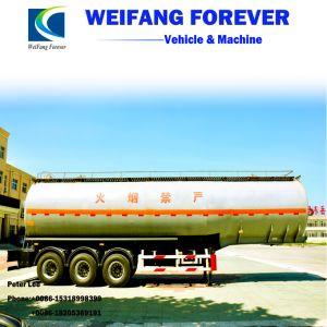 永久に30-65cbm炭素鋼の燃料かオイルまたはガソリンまたはディーゼルタンク車のセミトレーラー