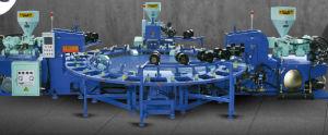 Three-Color ПВХ для выдувания воздуха системы литьевого формования машины зерноочистки