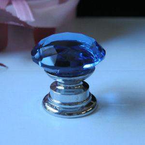 Ювелирные изделия Wholesales окно мини-голубой 20мм Crystal ручку с аппаратной базы