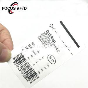 소매를 위한 길쌈된 직물 RFID 의복 레이블