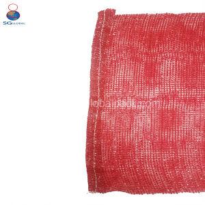 50*80cm roter pp. Linon-Ineinander greifen-Beutel für Verpackungs-Kartoffeln