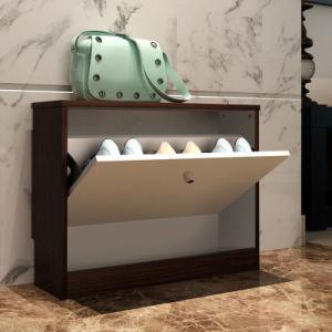 Modernes Art-Ausgangshölzerner Schuh-Schrank