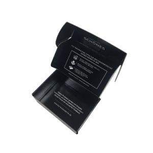Doppeltes versieht schwarzer gedruckter gewölbter Verschiffen-und Verpackungs-Kasten mit Seiten