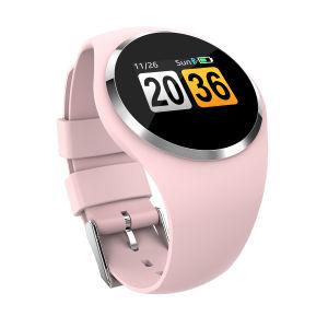 Новые яркие леди спорта фитнес-Tracker Q1 раунда экране Smart смотреть браслет артериального давления монитор частоты сердцебиений запястья смотреть