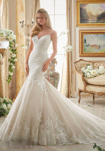 2017 Mermaid Lace Suite Wedding vestidos 2871
