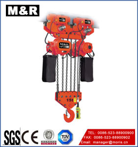 Single Double Speed를 가진 15t Electric Trolley Type Chain Electric Hoist