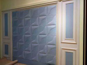 400*400mm 3D décoratifs panneau mural en cuir résistant au feu de tuiles de plafond
