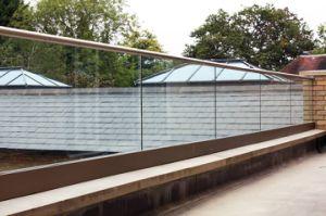 De Omheining van de Pool van het Water van het glas/het Traliewerk van het Dek/de Balustrade van het Glas Framelss