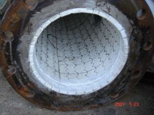 De hoge Alumina van de Schuring Bestand Ceramische Pijp van het Staal