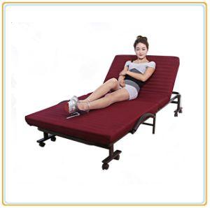 Invitado de plegado de la cama con colchón rojo vino 190*70cm/Comprar cama plegable