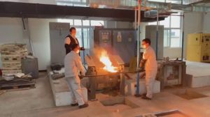 50-100kg Microfusión Si Metal fusión China horno de inducción
