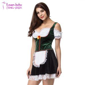 Oktoberfest verde femenino nuevo /cerveza blanca niña Disfraz L1214