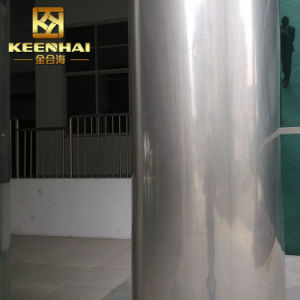 De decoratieve Opgepoetste Spiegel beëindigt de Bekleding van de Kolom van het Roestvrij staal