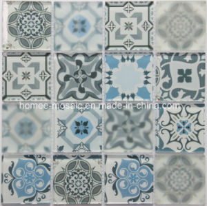 Mattonelle di mosaico di vetro decorate peltro della cucina di disegno del  getto di inchiostro