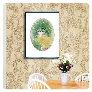 Estilo chinês Peste Abstrato Óleo Retrato Pintura decoração Arte na parede de lona foto
