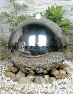 SS304 grande esfera oco de aço inoxidável para jardim fonte de água