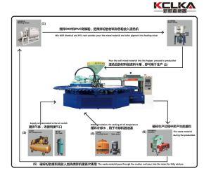 Автоматическая смешанной окраски ПВХ Airblowing ступням машины литьевого формования