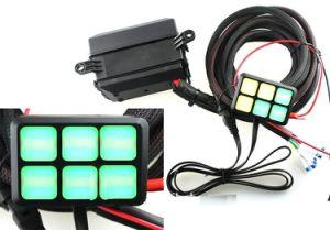 Des Gleichstrom-12V 6 Bedienschalter-Ein-Auspanel Gruppe-berührungempfindliches Bildschirm-LED mit dem Verkabelungs-Installationssatz allgemeinhin für Auto