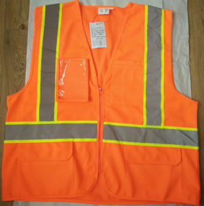 Reflective High Visibility Warning Vest with To zip