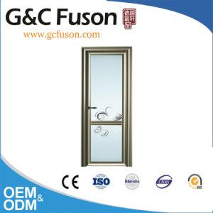 Vidro de segurança dupla porta de alumínio para banheiro