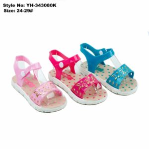 Новый стиль моды высокое качество дешевые ПВХ девочек сандалии