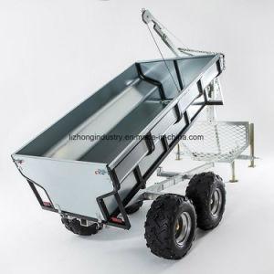ATVのログのローダー、ATVの網のトレーラー、クレーンが付いているATVの材木のトレーラー