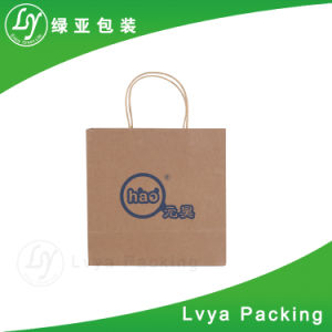 Venta caliente Kraft Color sólido ecológica marrón y blanco bolsa de papel de la bolsa de papel Kraft