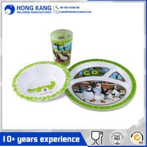Personnalisée multicolore écologique de la mélamine vaisselle assiette à dîner