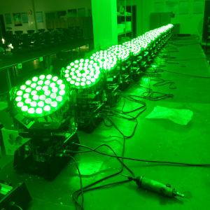 段階DJのディスコの光ビームズームレンズ36X18W Rgbwauv 6in1 LEDの移動ヘッド