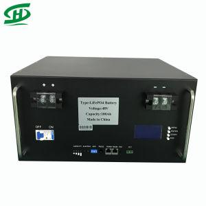 48V 100Ah 200AH 4.8KW 9.6KW LiFePO4 de Iones de Litio Powerwall la batería para el sistema de almacenamiento de energía solar fotovoltaica de la torre de telecomunicaciones con la lucha contra el robo y GPS.