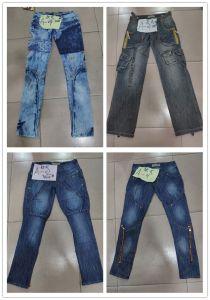 2017 nuovo pantaloni di svago dei jeans degli uomini strappati di stirata di modo denim blu