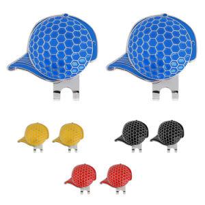 Logotipo da gravura a laser personalizada Golf Switchblade portátil adoráveis de acessórios de aço inoxidável com liga de zinco magnético de ferro dobrados Hat Encaixar Golf Reparação Ferramenta Divot dos garfos