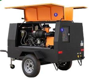Compressor de ar portáteis para a indústria de mineração