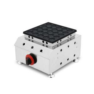 Snack-Máquinas panqueca de gás Maker Poffertjes Máquina com 25 buracos