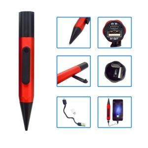 Banco de potencia Bolígrafo metálico bolígrafo cargador para teléfono móvil