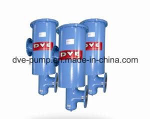 A bomba de vácuo e o óleo da saída do sistema de filtros de gás