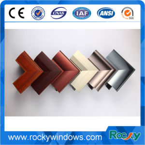 El grano de madera Imprimir perfil de aluminio para Ventana deslizante